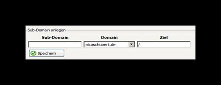 Sub-Domain anlegen Confixx