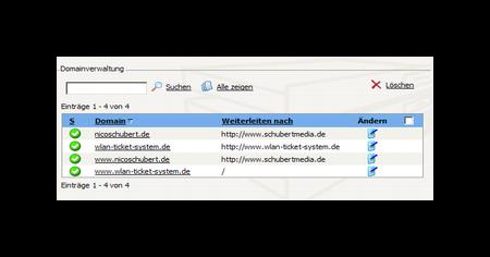 Confixx Domainverwaltung