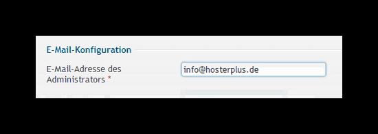 Angabe der E-Mail-Adresse für den WordPress Administrator