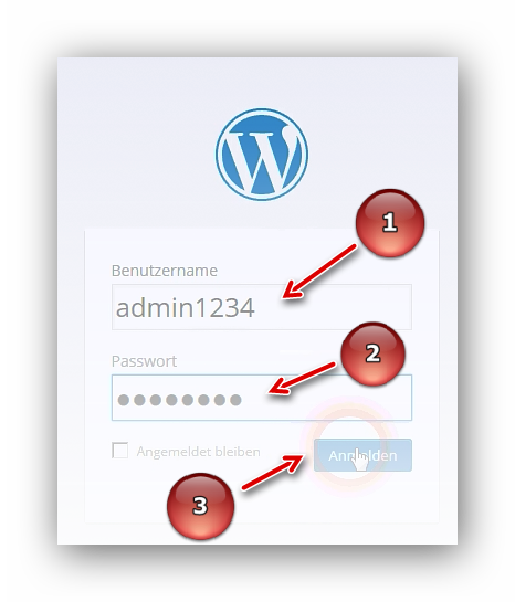 Anmeldemaske zur WordPress Verwaltung