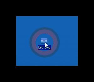 Bild über gedrückter Maustaste von Desktop hochladen