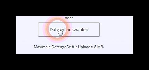 Datei zum hochladen auswählen