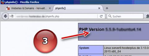 PHPinfo Datei über Browser aufrufen
