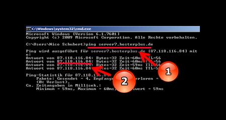 Ping Abfrage im Windows-Befehlsprozessor