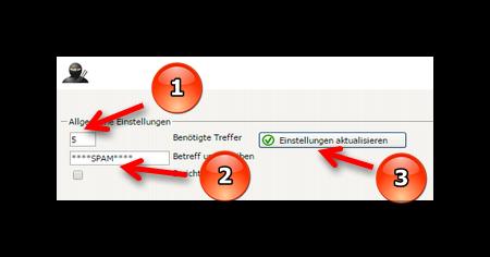 Spam Score für Spamfilter festlegen