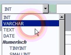 VARCHAR auswählen beim Firmennamen über Selectfeld