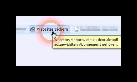 Webseites  sicher  in der Plesk Verwaltung