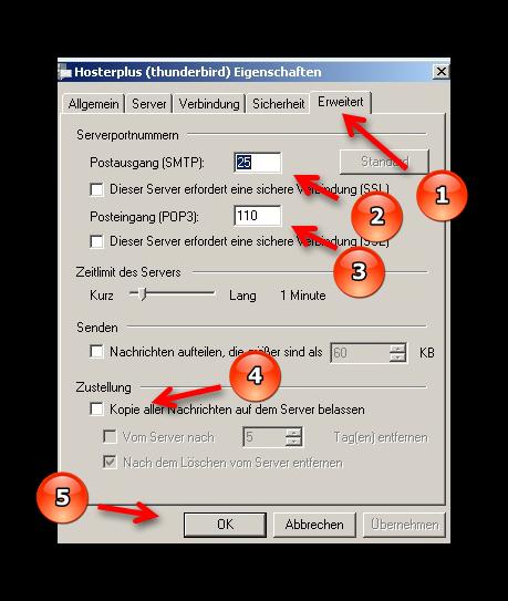 Windows Live Mail - Kontoeigenschaften bearbeiten