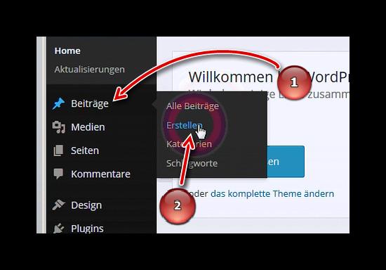 WordPress Navigation - Beiträge erstellen