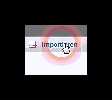 importieren über den PHPMyAdmin